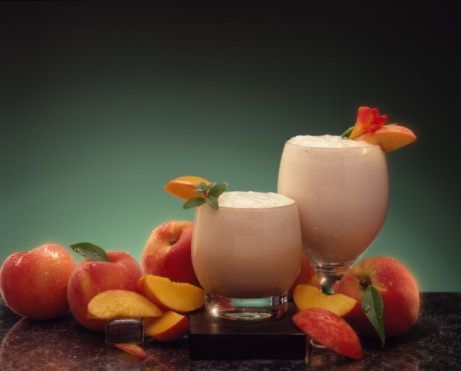 Peach smoothie drinks